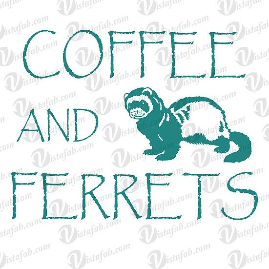 Coffee Ferrets  - INSTANT DOWNLOAD