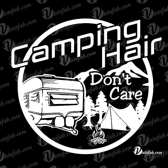 Camping Hair - INSTANT DOWNLOAD