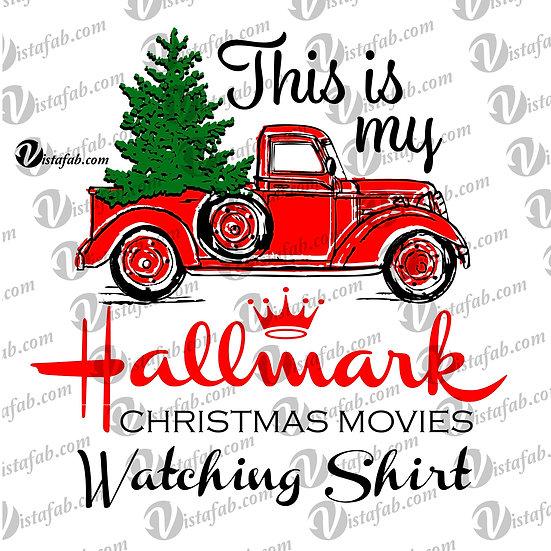 Hallmark movie watching Shirt - INSTANT DOWNLOAD