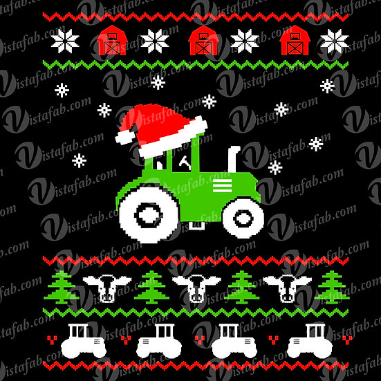 Christmas Tractor Sweater  - INSTANT DOWNLOAD