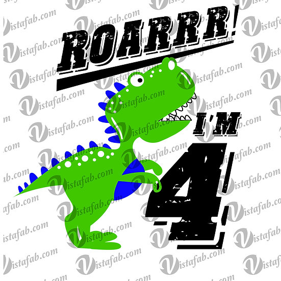Roar I'm 4 - INSTANT DOWNLOAD