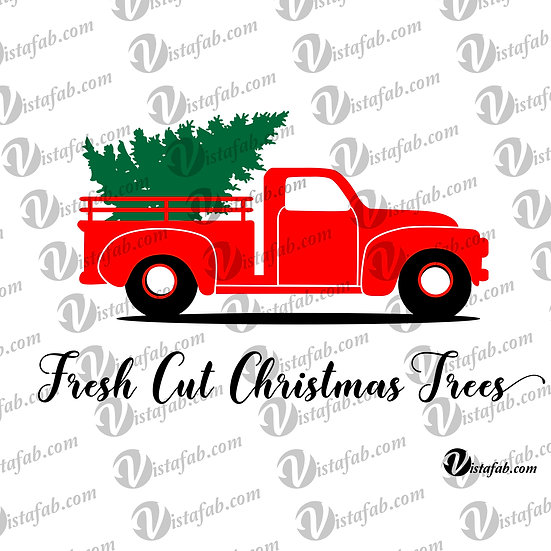 Fresh Cut Christmas Trees - INSTANT DOWNLOAD