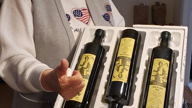3 bottles of olive oil