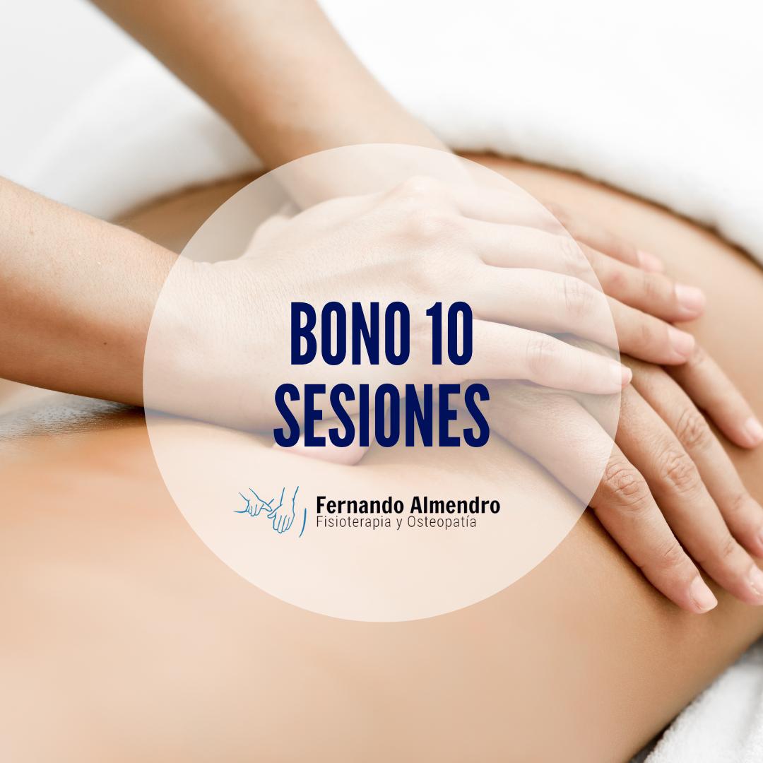 Bono 10 sesiones fisioterapia