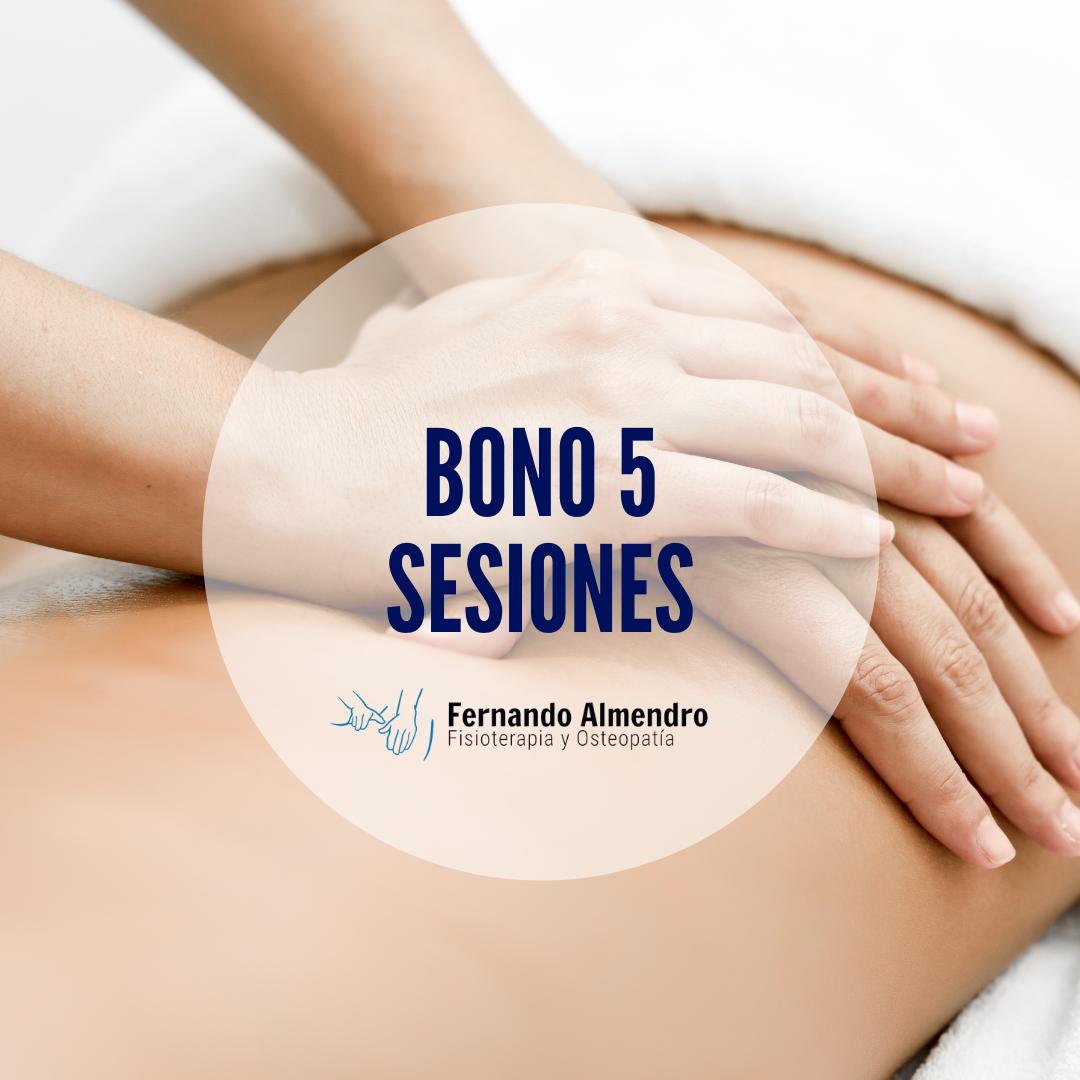 Bono 5 sesiones fisioterapia