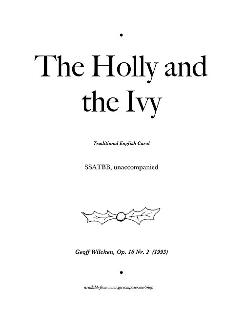 Holly and the Ivy - Small Ensemble License