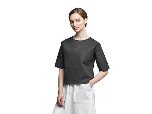 Блуза-футболка из вафельной ткани