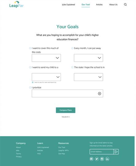 Calculator Tool Page - Step 2