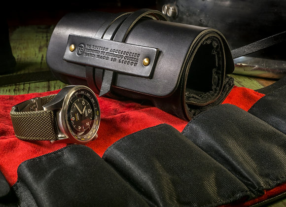 LEATHER AND CANVAS WATCHES ROLL