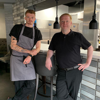 Head Chef Bradley and Front of House Manager Matthew