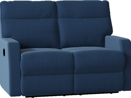 Blue Reclining Love Seat