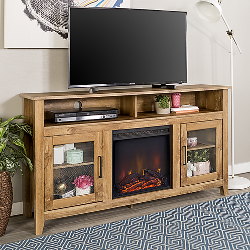 Letti TV table with fireplace