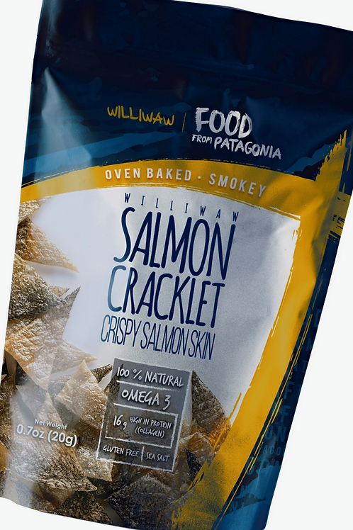 Williwaw Salmon Skin Cracklets - Smokey flavor - 8 units pack