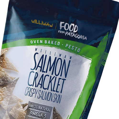 Williwaw Salmon Skin Cracklets - Pesto flavor
