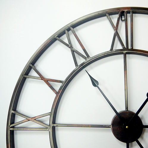 Oversized Roman Iron Wall Clock