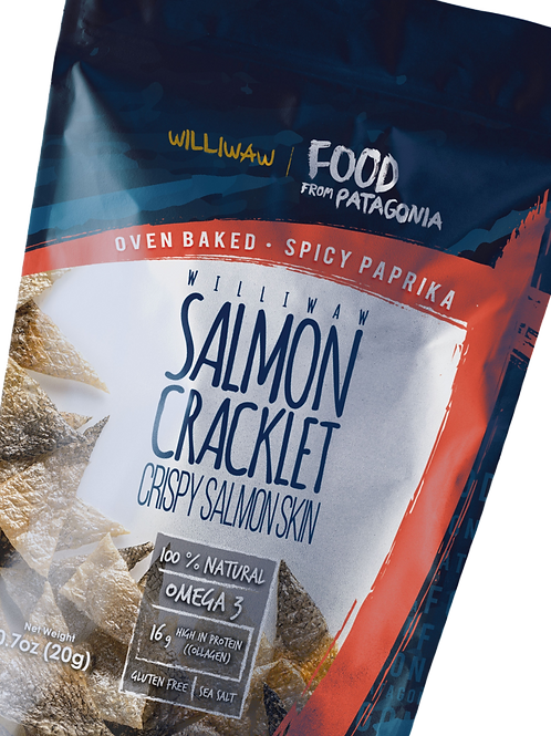 Williwaw Salmon Skin Cracklet -Spicy Paprika flavor