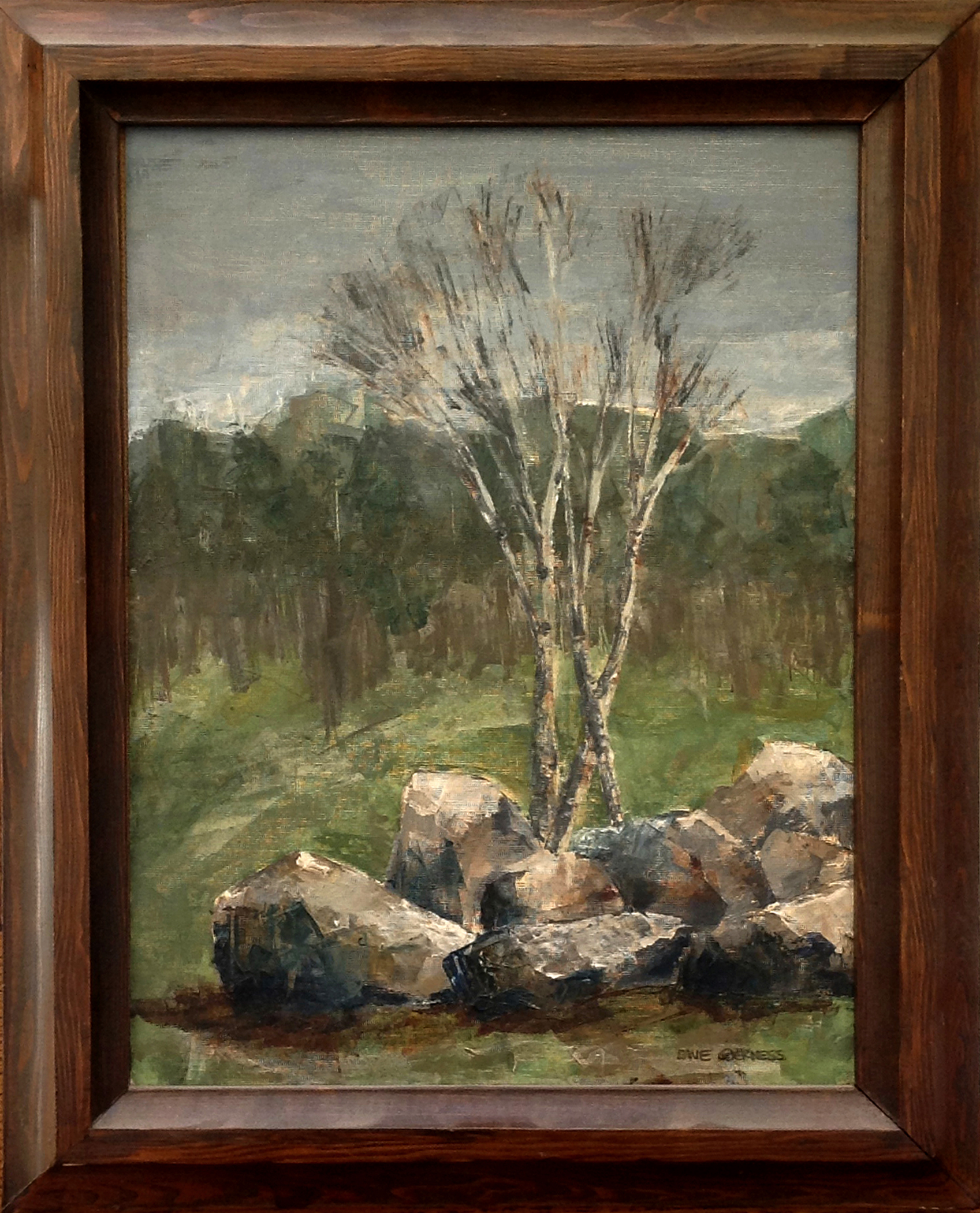 Birches (Oil Painting, 1971)
