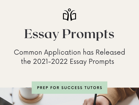 2021-2022 Common Application Essay Prompts Have Been Released