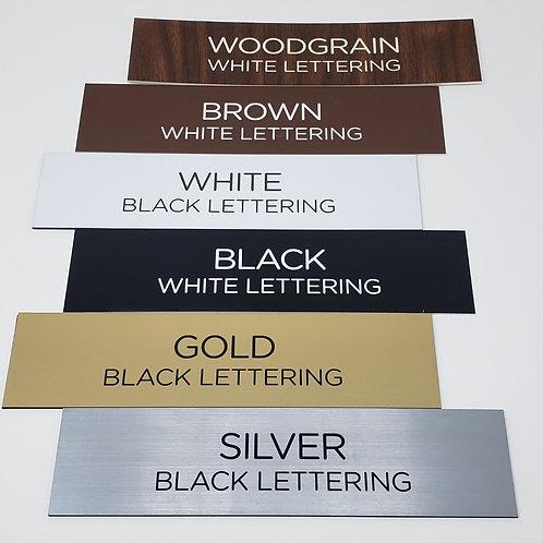 Plastic Name Plate