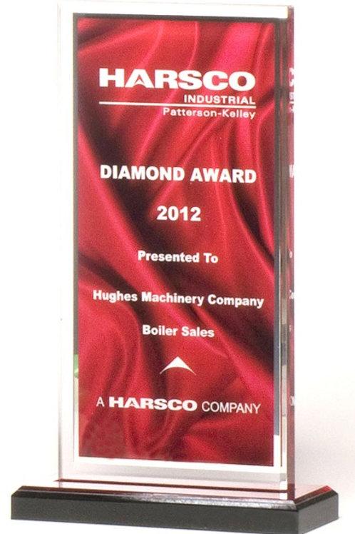 Red Pattern Acrylic Award