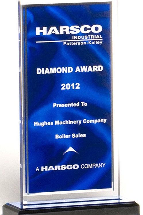 Blue Pattern Acrylic Award