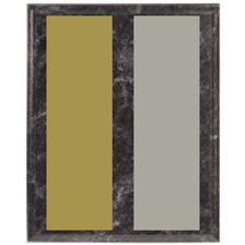 Black Marble Pattern Wood Plaque
