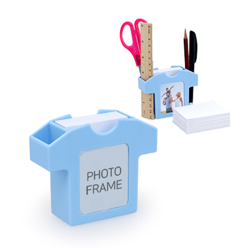 Zazzle Stationery Holder with Photo Frame
