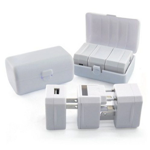 Travel Adaptor with USB Hub and Case