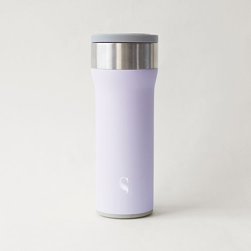 Satin Starlet Porcelain Thermal Flask with Handle
