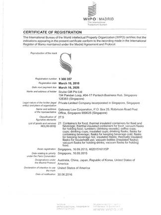 SWANZ商標證書
