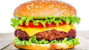 """The three-part meal turns up again in another """"food event,"""" the time-saving hamburger."""