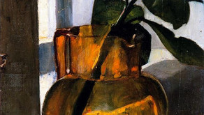 Orange jug with green cutting, 1884 - Marie Triepcke Krøyer Alfvén, 1867 – 1940