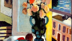 SAFFRON ROSES IN FRONT OF A WINDOW ,1922 - HENRI MATISSE (1869-1954)