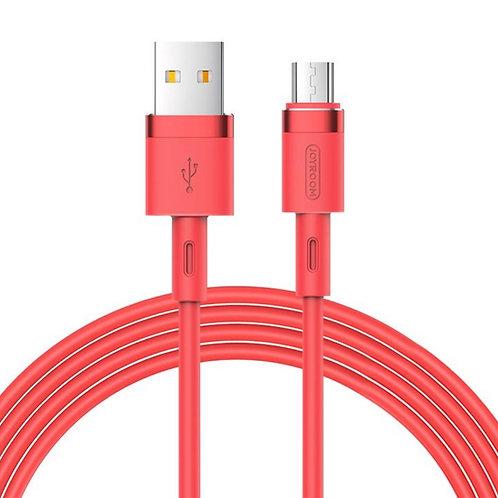 JoyRoom | Liquid Silicone Series | 2.4A Micro USB | 1.2 Meter | RED