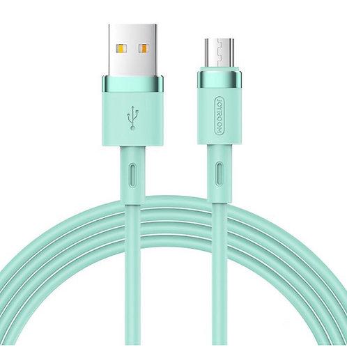 JoyRoom | Liquid Silicone Series | 2.4A Micro USB | 1.2 Meter | Green