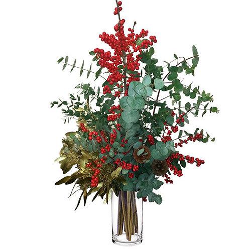 Cristal Acebo&Eucalipto Navidad