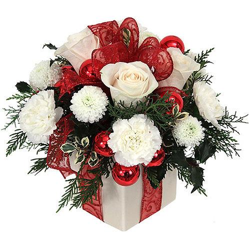 Cubo de Flor Navidad