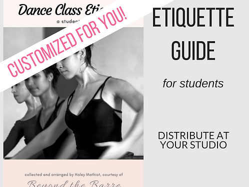 Etiquette guide for dance class
