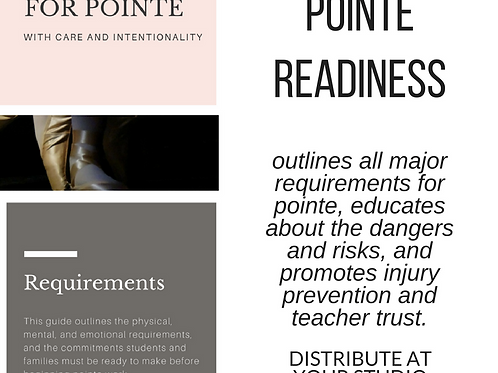 Preparing for Pointe - Pointe Readiness and Requirements