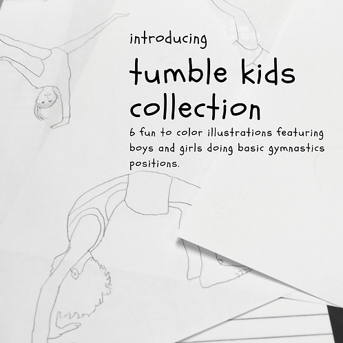 Tumble Kids Coloring Collection