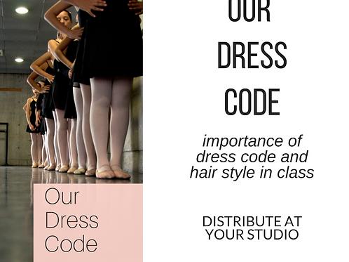 Our Dress Code - Printable Brochure