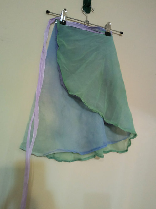 Watercolor wrap skirt - adult small