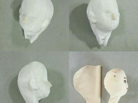 布人形の頭部の作り方2016
