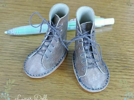 人形の革靴を作る その2♪
