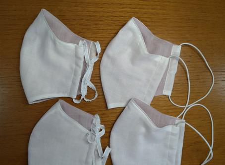 立体マスク(針金入り)縫製前の準備  ♪