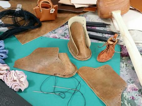 人形の革靴を作る その1♪