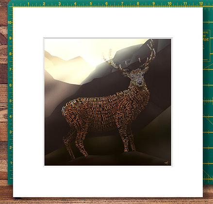 Monarch of the Glens Mounted Giclee Print