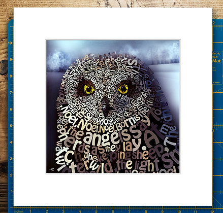 The First No-owl Mounted Giclee Print