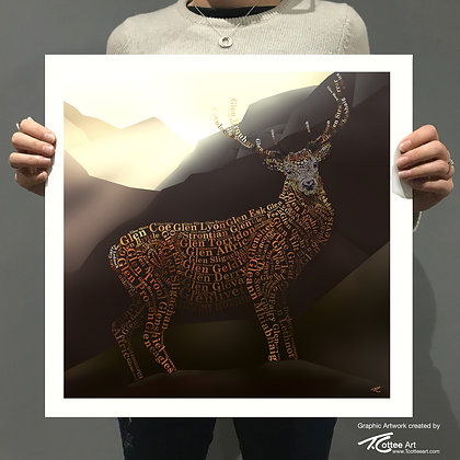 Monarch of the Glens Giclee Print