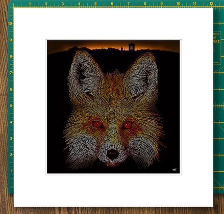 Urban Fox Mounted Giclee Print